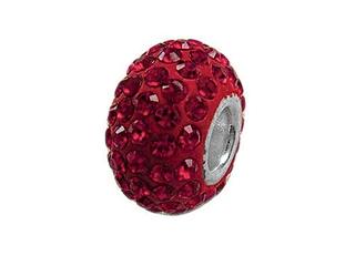 Zable Pave Swarovski Crystal Pandora Compatible Bead July Pandora Compatible Bead / Charm