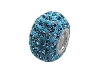 Zable Pave Swarovski Crystal Pandora Compatible Bead December Pandora Compatible Bead / Charm