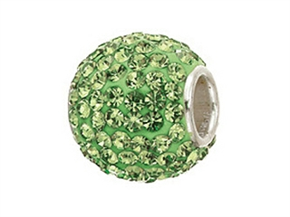 Zable Sterling Silver Pave Crystal Birth Month - August Bead / Charm