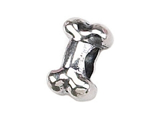 Zable Sterling Silver Dog Bone Bead / Charm