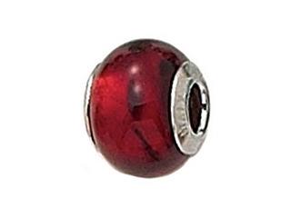 Zable Sterling Silver Murano Glass Birth Month - Pandora Compatible Bead / Charm