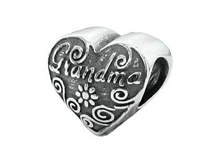 Zable Sterling Silver Grandma Pandora Compatible Bead / Charm