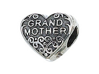 Zable Sterling Silver Grandmother Pandora Compatible Bead / Charm