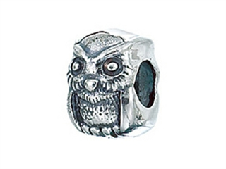 Zable Sterling Silver Owl Bead / Charm