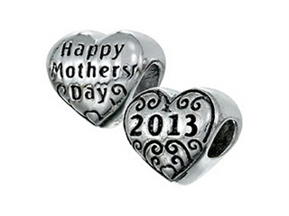 Zable Sterling Silver Happy Mothers Day 2013 Bead / Charm