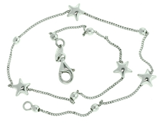 10 Inches Ankle Bracelet With Star Charms