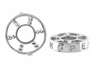 Storywheel Created White Sapphire Hope Bead / Charm