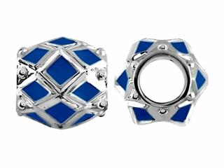 Storywheel Navy Blue Enamel Bead / Charm