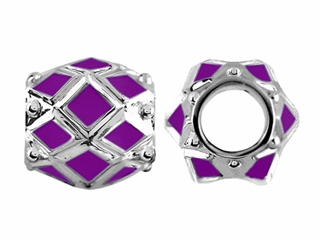 Storywheel Purple Enamel Bead / Charm