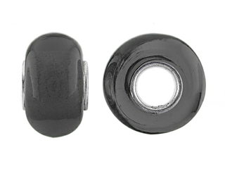 Storywheel Black Glass Bead / Charm