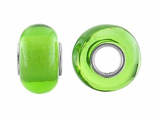 Storywheel Light Green Glass Bead / Charm