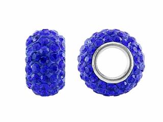 Storywheel Dark Blue Crystal Bead / Charm
