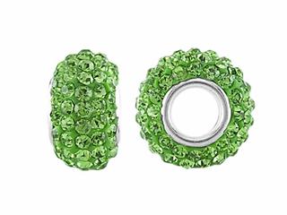 Storywheel Light Green Crystal Bead / Charm