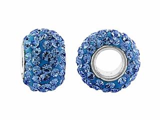 Storywheel Light Blue Crystal Bead / Charm