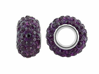 Storywheel Dark Purple Crystal Bead / Charm