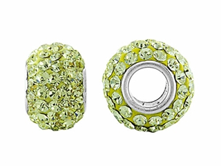 Storywheel Light Yellow Crystal Bead / Charm