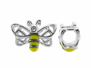 Storywheel Bumble Bee Yellow And Black Enamel Bead / Charm
