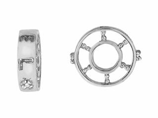 Storywheel Created White Sapphire Bead / Charm