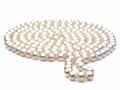60 inch White Fresh Water Cultured Pearl Rope 7-8 mm each