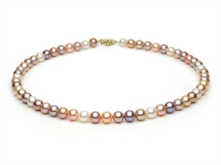Multicolor Fresh Water Pearl Necklace 7-7.5mm each