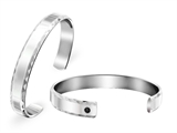 Inori Stainless Steel Bangle with Cubic Zirconia (CZ) Style #INB2365