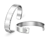 Inori Stainless Steel Bangle Cubic Zirconia (CZ) Style #INB24