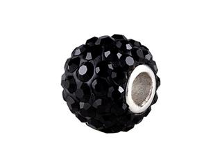 SilveRado Bling Razzle Dazzle Black Bead / Charm