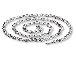 SilveRado(tm) CNK60 Verado Necklace Sterling Silver Charm Necklace 60cm (23.70 inches Bead / Charm