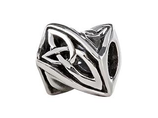 SilveRado Sterling Silver Celtic Infinitely Twisted Bead / Charm