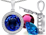 Switch-It Gems™ Round 12mm Simulated Sapphire Pendant with 12 Interchangeable Simulated Birth Months Style #307796