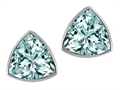 Genuine Trillion Aquamarine Earring Studs