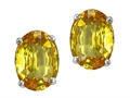 Genuine Oval Citrine Earring Studs
