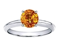 10k Gold Genuine Citrine Solitaire Engagement Ring
