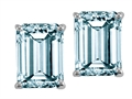 Genuine 8x6 Emerald Cut Aquamarine Earrings