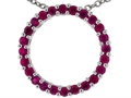 Tommaso Design(tm) 19mm. Circle Of Love Pendant made with Genuine Quality Ruby