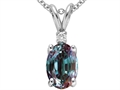 Lab Created Alexandrite and Genuine Diamond Pendant