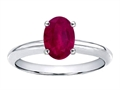 14k Gold Large Oval 8x6mm. GENUINE Ruby Solitaire Engagement Ring