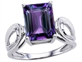 Original Star K(tm) Large Emerald Cut 10x8mm Simulated Alexandrite Solitaire Ring