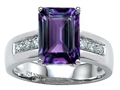 Original Star K(tm) Classic Octagon Emerald Cut 9x7 Engagement Ring With Simulated Alexandrite