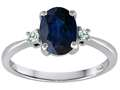 Tommaso Design(tm) 8x6mm Oval Genuine Sapphire Engagement Ring