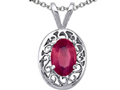 Tommaso Design(tm) Oval Genuine Ruby Pendant