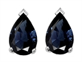 Tommaso Design(tm) 7x5mm Pear Shape Genuine Sapphire Earrings