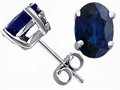 Tommaso Design(tm) Oval 7x5 Genuine Sapphire Earrings Studs