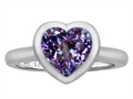 Original Star K(tm) 8mm Heart Shape Solitaire Engagement Ring With Simulated Alexandrite