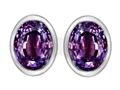 Original Star K(tm) 8x6mm Oval Simulated Alexandrite Earrings Studs