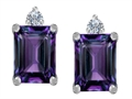 Original Star K(tm) 8x6mm Emerald Octagon Cut Simulated Alexandrite Earrings Studs