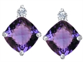 Original Star K(tm) 7mm Cushion Cut Simulated Alexandrite Earrings Studs
