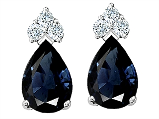 14k Genuine Sapphire Earrings