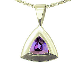 Triangle Tanzanite Pendant