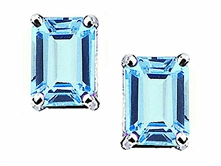 Jewelry Diamond - Octagon Aquamarine Earrings